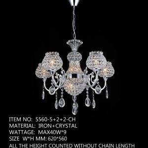 5560-5+2+2-CH - 9 LED Lamp