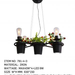 781-4+3 - 3 Flower Pot