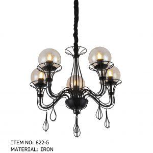 822-5 - 5 Round Bulbs
