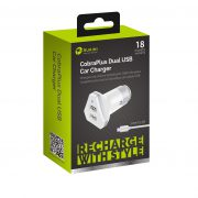 USB Car Charger White with Android cable