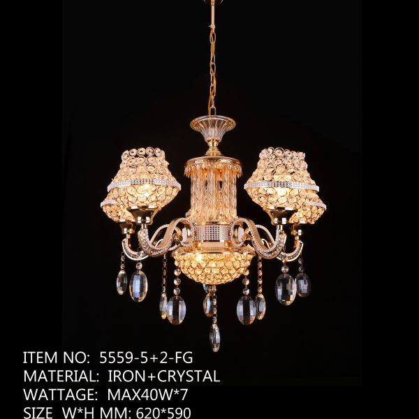 5559-5+2-FG - 5 Orange Crystal