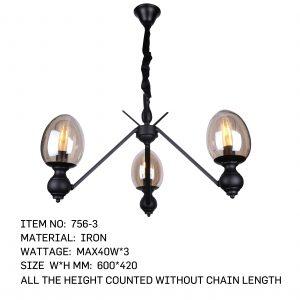 756-3 - 3 Blub Lamp stick