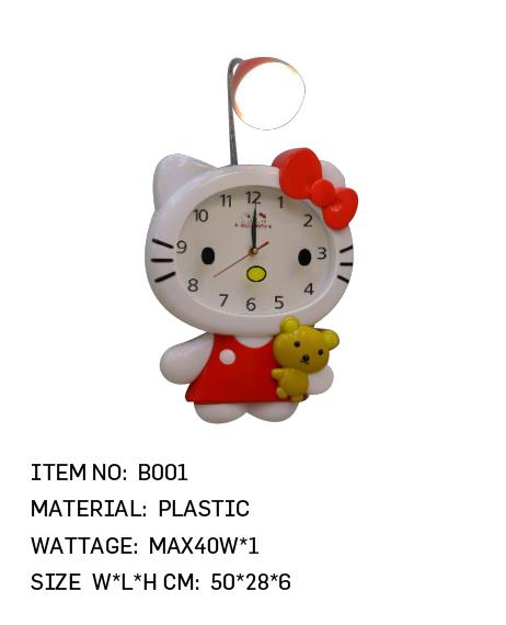 B001 - Kitty Clock